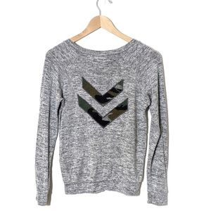 Vintage Havana Gray Sweatshirt with Camo Back
